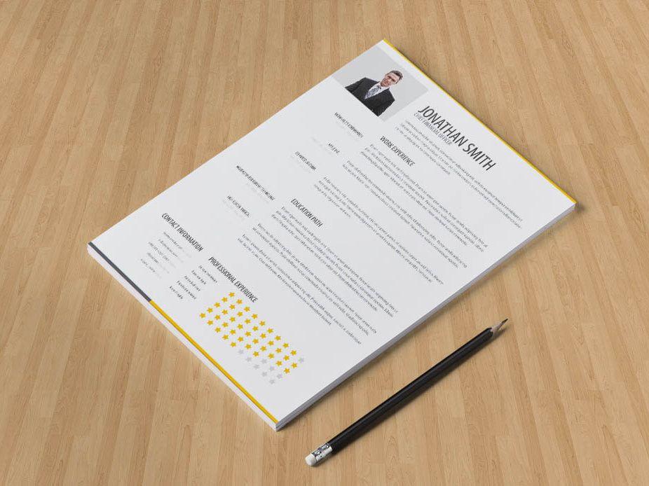 Free clean minimalist resume template resume template
