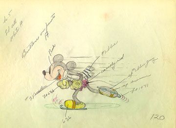 Original Process Drawing By Ub Iwerks Who Worked On Disney Drawings Secretly While Pretending To