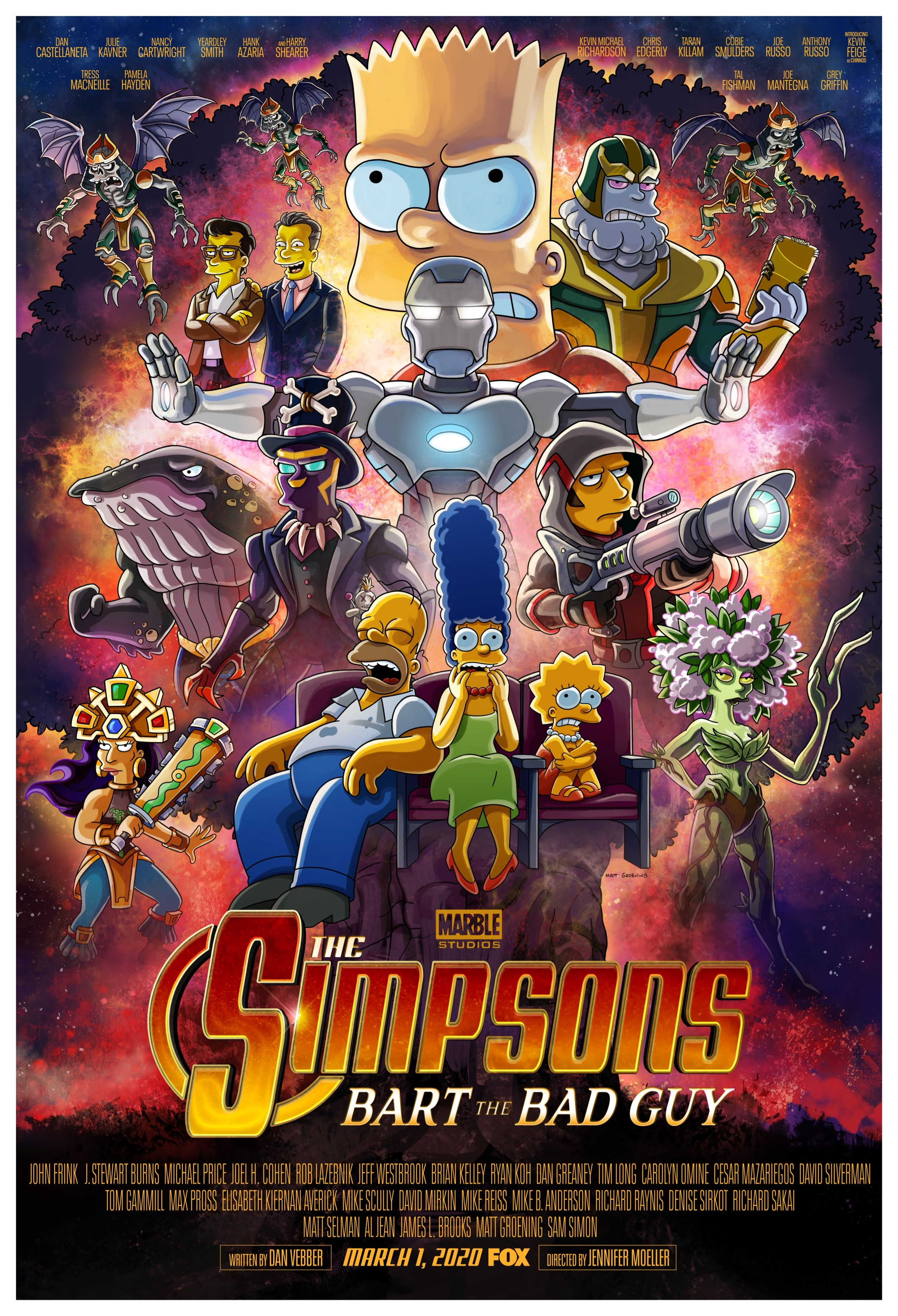 The Simpsons Take On Avengers: Endgame in New Post