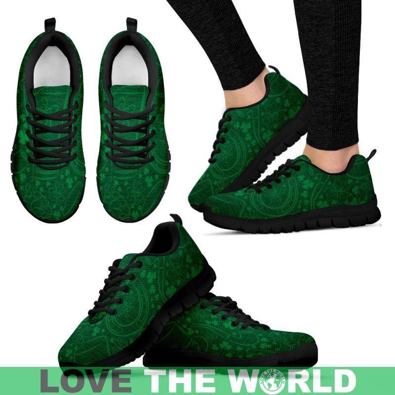 5b74684e7fbc8 Ireland Shamrock 01 (Mens womens) Sneaker S12 Mens Sneakers - Black   Us5  (Eu38) Sneakers