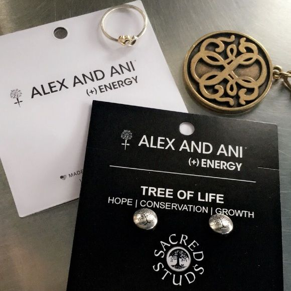 "NWT!!Alex and Ani ""Tree of life"" earrings Alex and Ani Tree of Life stud earrings, silver-tone, Aprox. 3/8"", great size, fashionable and super cute✨ Alex & Ani Accessories"