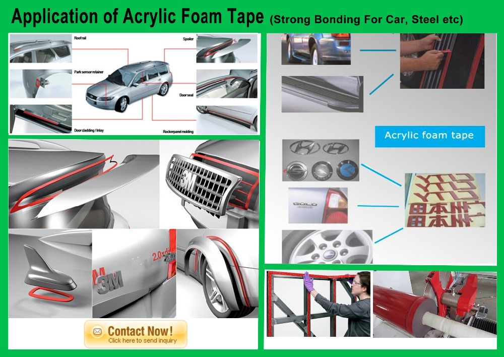 Acrylic Foam Tape For Metal Car Glass Can Replace 3m Vhb