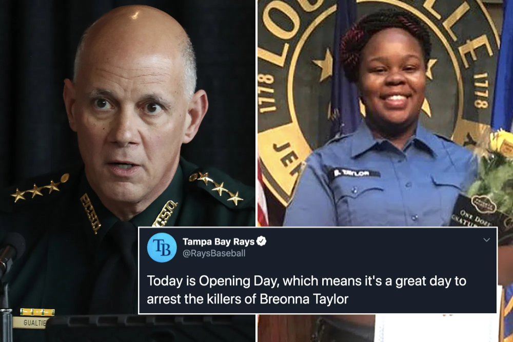 A Florida Sheriff Is Throwing Heat At The Tampa Bay Rays Over The Team S Call For The Arrest Of The Kentucky Cops Who Killed Bre In 2020 Tampa Bay Rays Tampa
