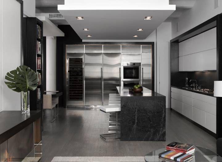 Lofts Modernes Minimalistes En Noir Et Blanc