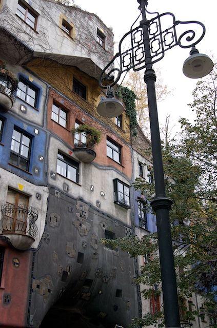 Social housing project by German artist-architect Friedensreich Hundertwasser