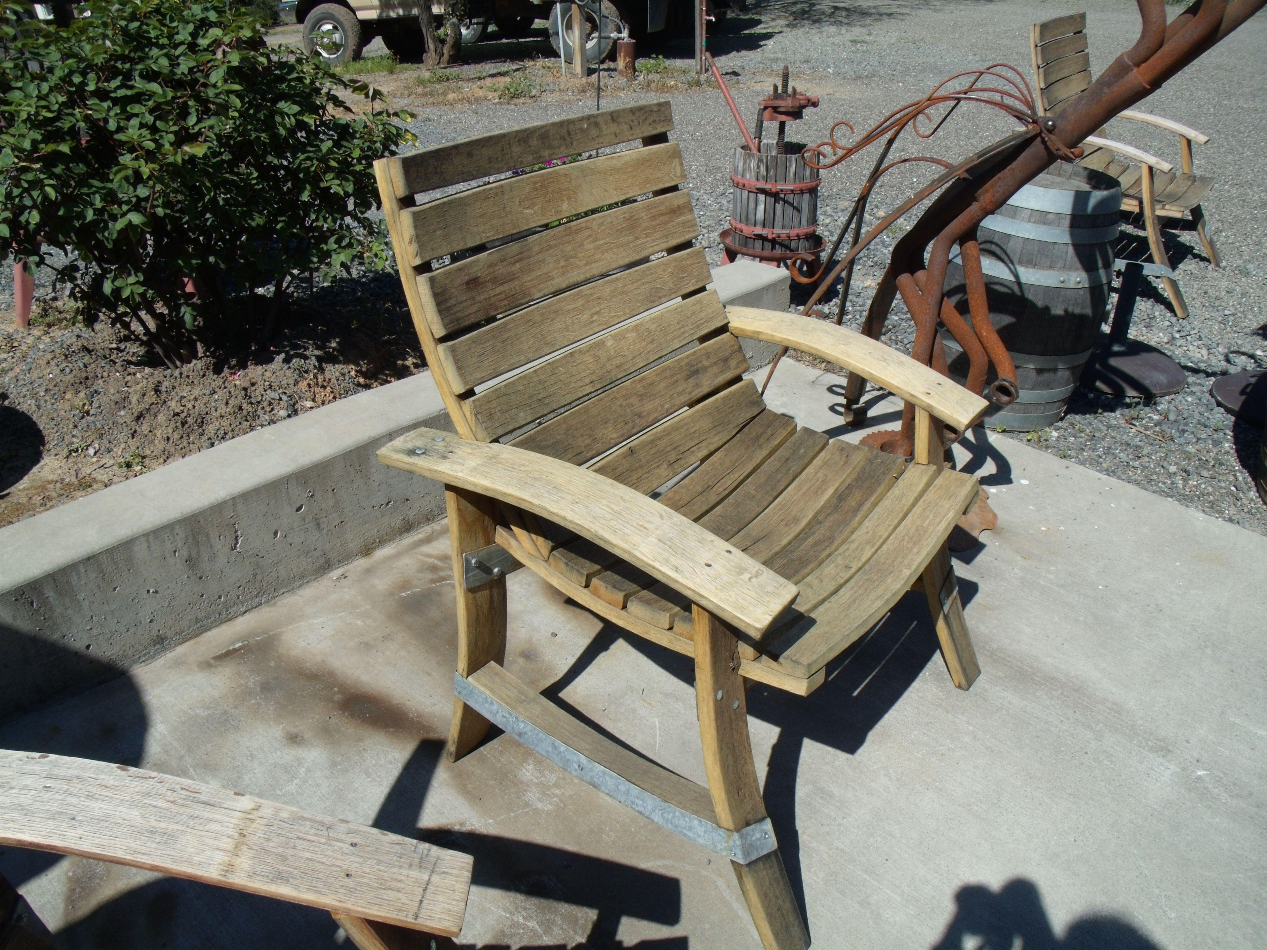Wine barrel chair Wine barrel chairs, Barrel chair