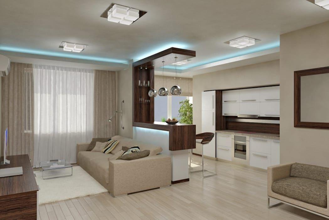 Photo of Квартира студия общей площадью 43 кв метра гостиная в стиле