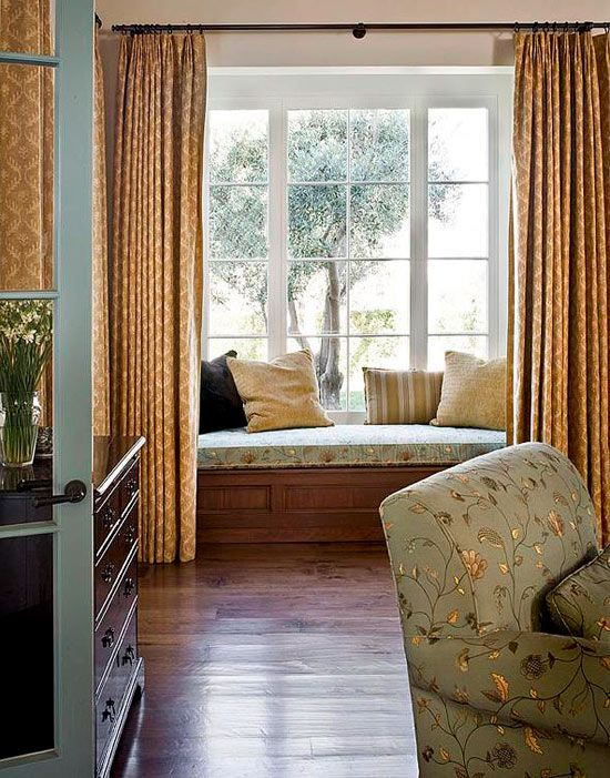 exciting bedroom window curtains | Bedroom Decorating Ideas: Window Treatments - Traditional ...