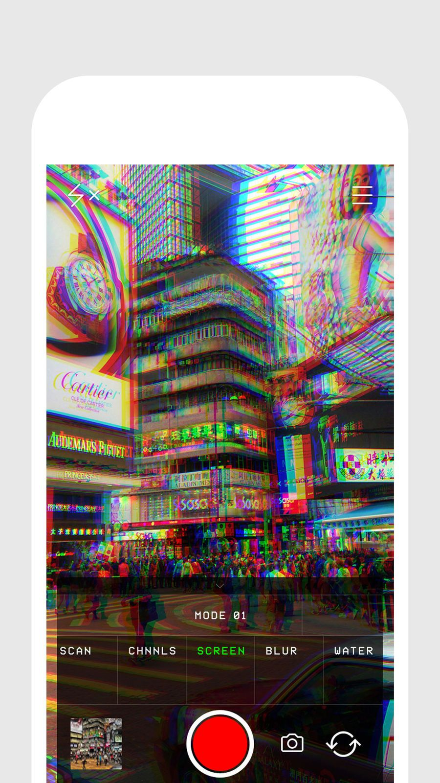 Glitch Cam Realtime Filters From Glitch Amp Photo Video Ios Glitch Photo And Video Editor App