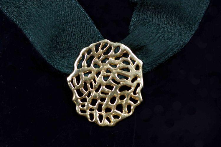Colgante de #plata de 925, bañado en #oro