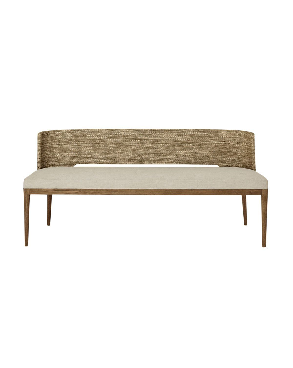 Ava Seagrass Bench In 2021 Seagrass Bench Modern Dining Bench Upholstered Dining Bench