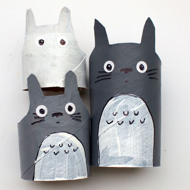3 Totoro Crafts Totoro Crafts Anime Crafts Toilet Paper Crafts