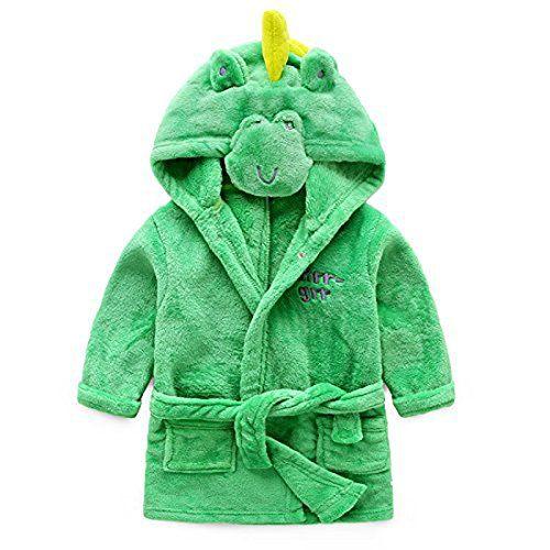 Baby Boys Girls Bathrobe Soft Plush Infant Toddler Super Comfy Sleepwear Outfit