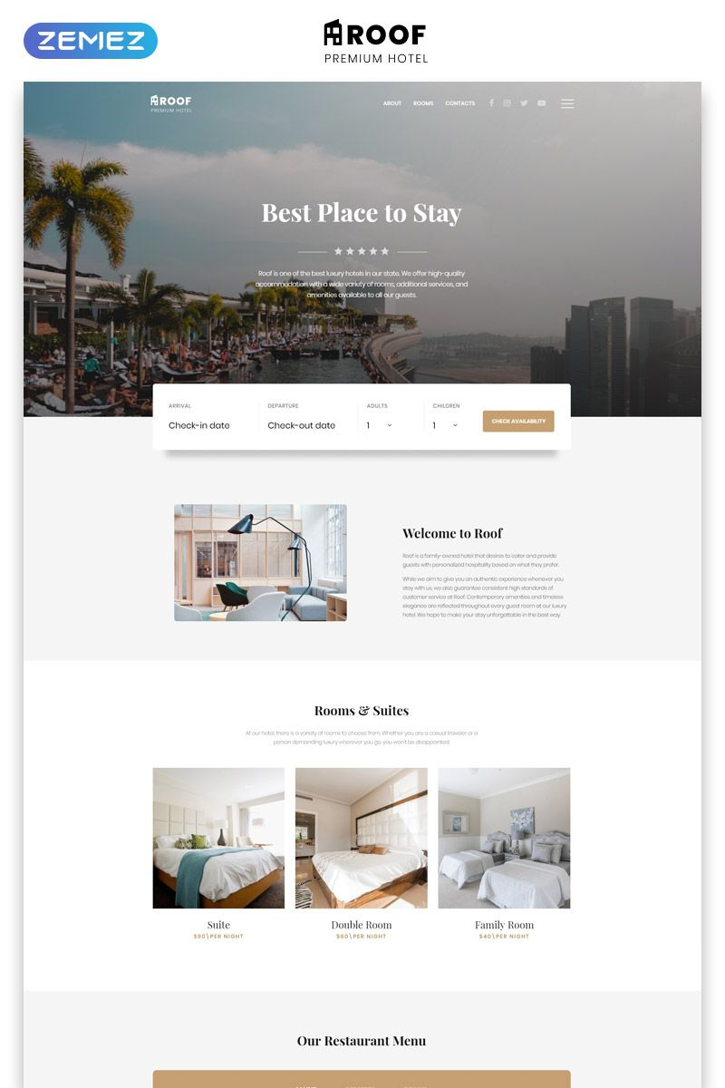 Hotel Multipage Clean Bootstrap Website Template Hotel Website Design Vintage Website Design Hotel Website Templates