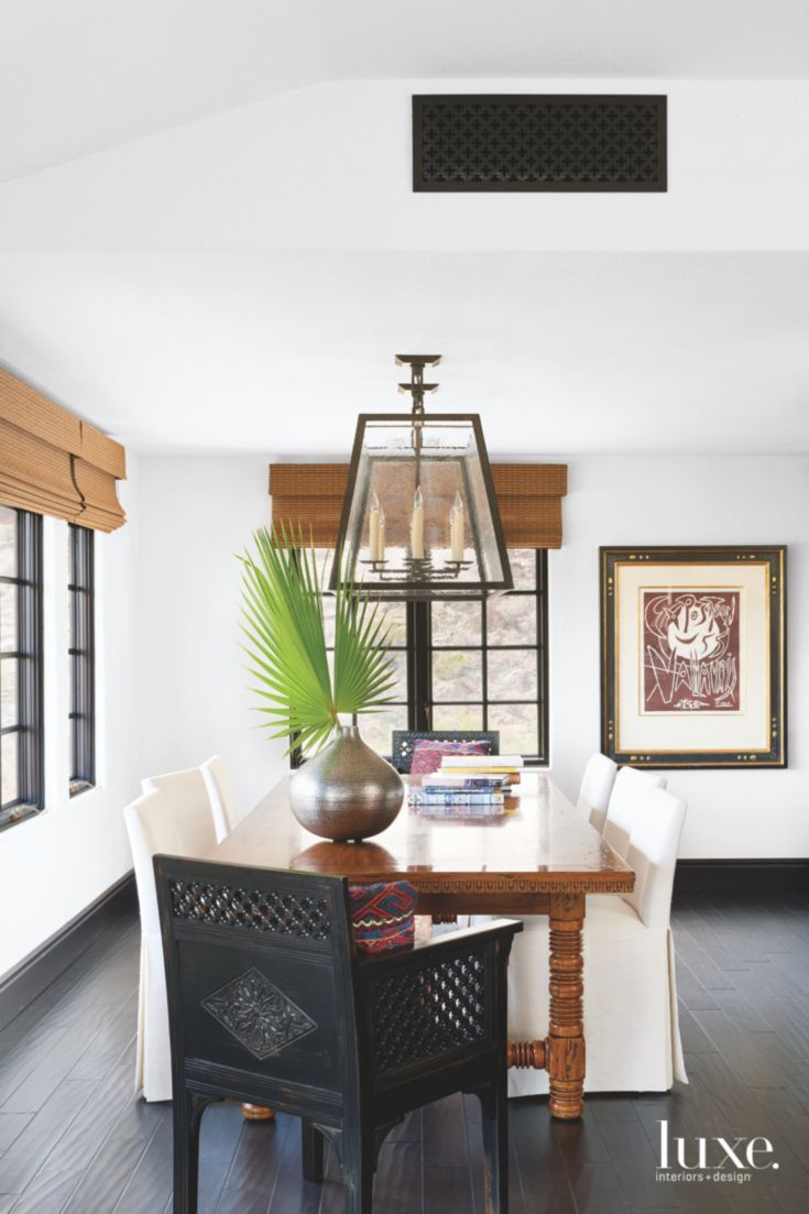 Chic Dining Room In Stylish Palm Springs Spanish Colonial Home Custom Spanish Dining Room Table Inspiration