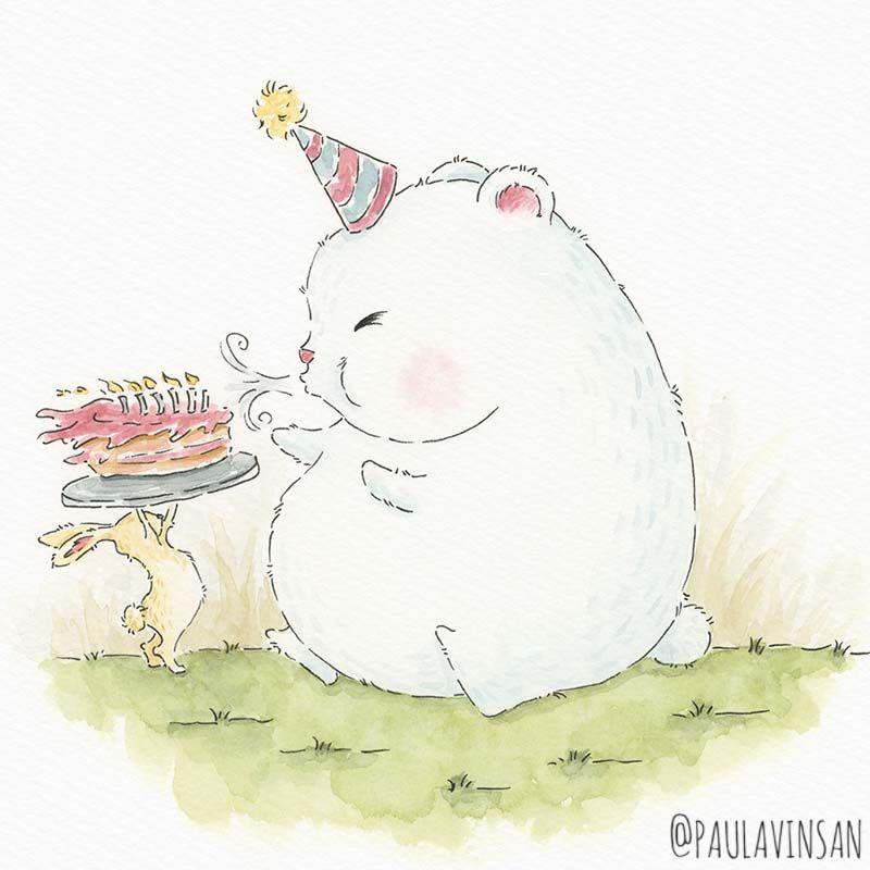 Hey Birthday boy! wishing you a happy birthday #drawing #instaart #artoftheday #instaartist #naturelovers #animalwatercolour #polarbear #animaldrawing #ofquietmoments #dailycreativity #artoftheday #sketchbook #drawingoftheday #handmadepostcard #newartist #watercolourillustration #kidlitart #childrensbookillustration #bunnydrawing #cuteanimal #cuteillustration #birthdayboy #happybirthday #birthdaywishes #birthdaycard #handmadebirthdaycard
