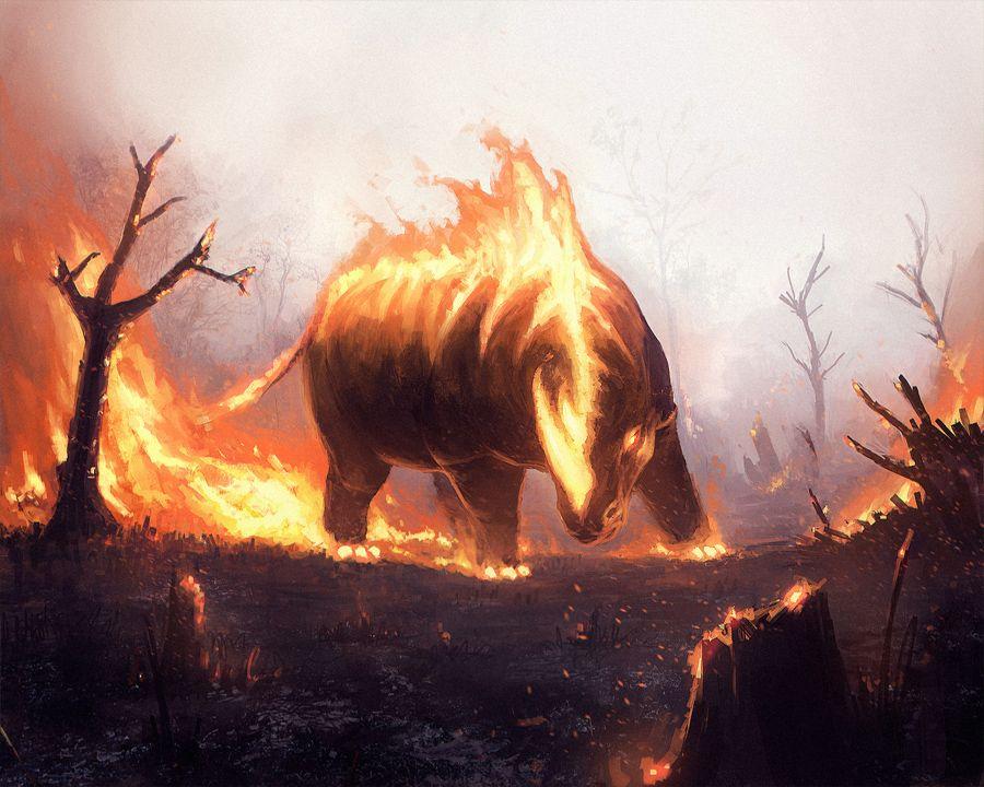 Elemental Rhino by Lionsketch on DeviantArt