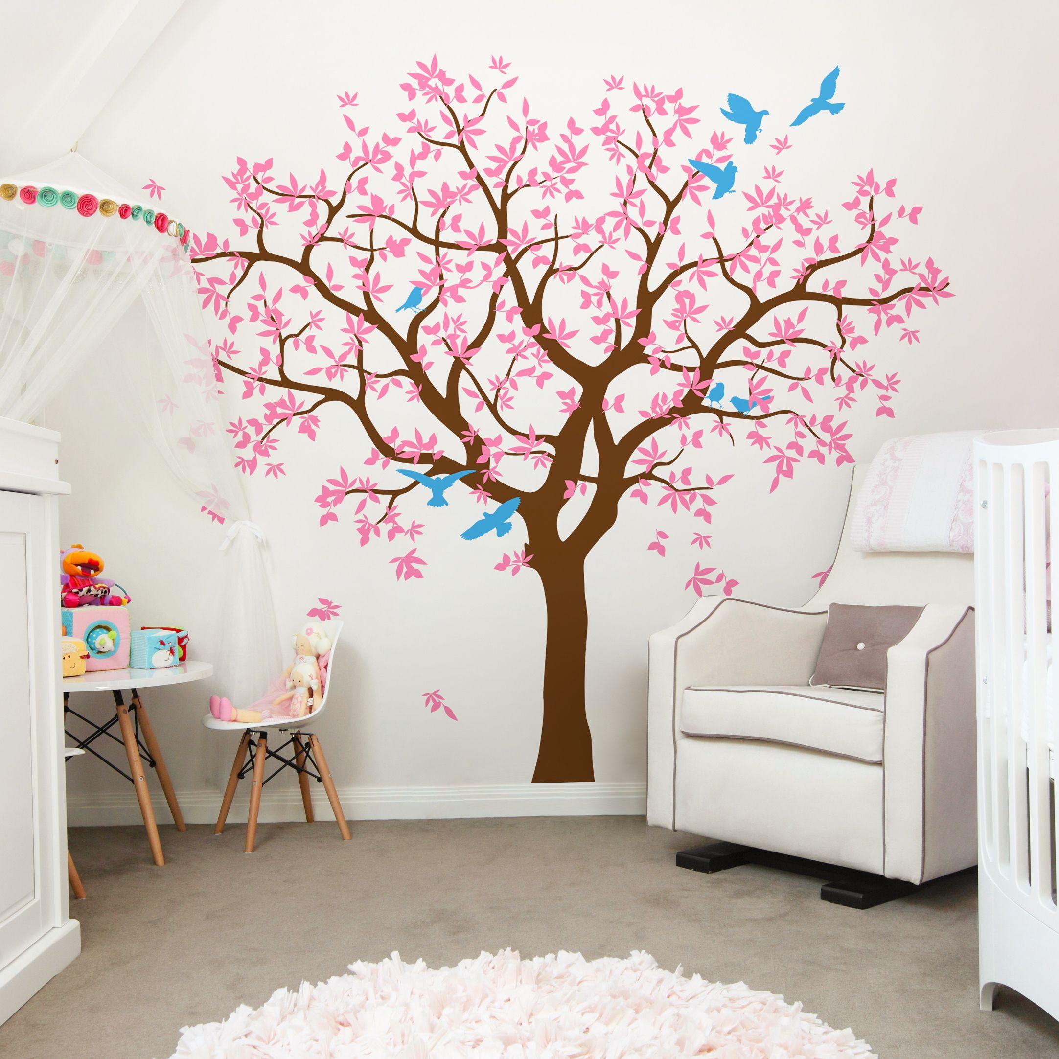 Pink Tree Wall Decal Tree Kidroom Family Decal Deaign