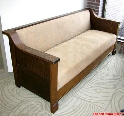 Vintage Survivor 1920s Mission Couch Sleeper Sofa