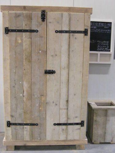 Tweepersoons Bed Steigerhout Bed Kast Sloophout Plank