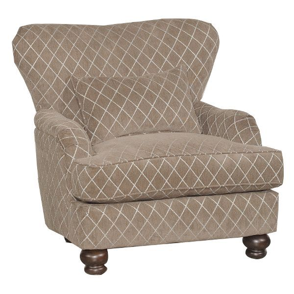 Traditional Mushroom Brown Accent Chair - Milan | Bedroom Decor ...