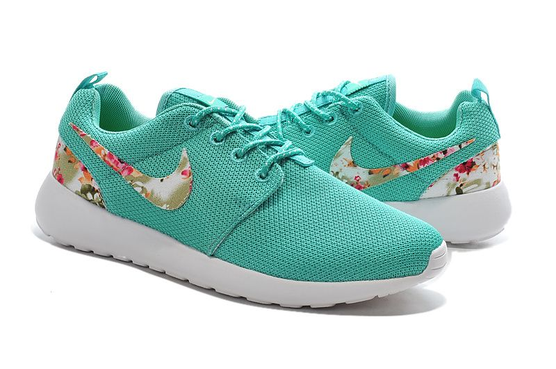 nike shoes running green no tie roshes kids girl 920332