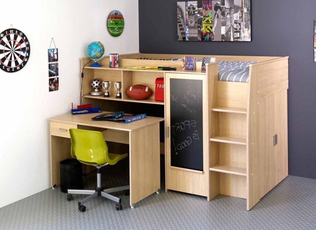 Bedroom Fantastic Bunk Bed Desk Combo Wood Also Single Bed Desk