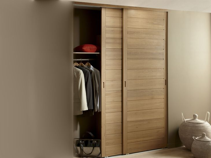 Des Portes De Placard Coulissantes Et Pratiques Leroy Merlin Closet Kitchen Small Closet Storage Tall Cabinet Storage