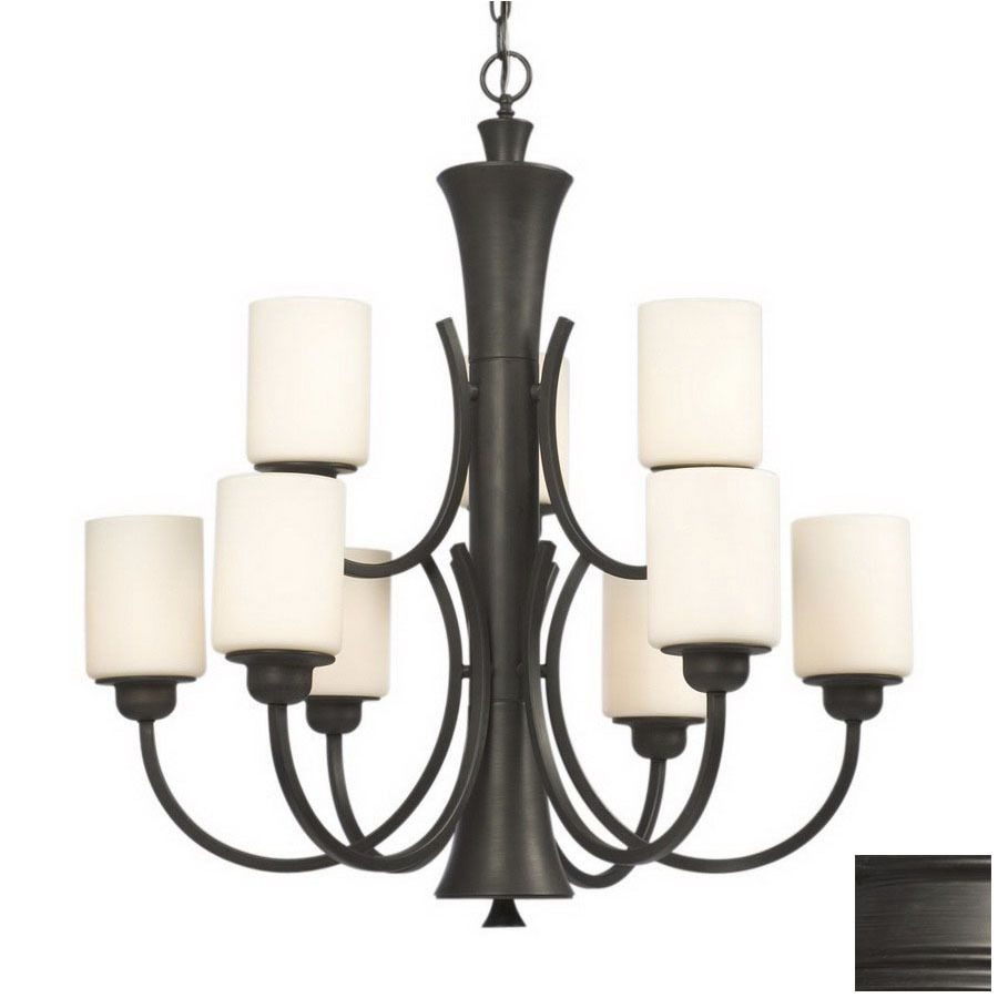 allen + roth Harpwell 9 Light Oil Rubbed Bronze Traditional Chandelier