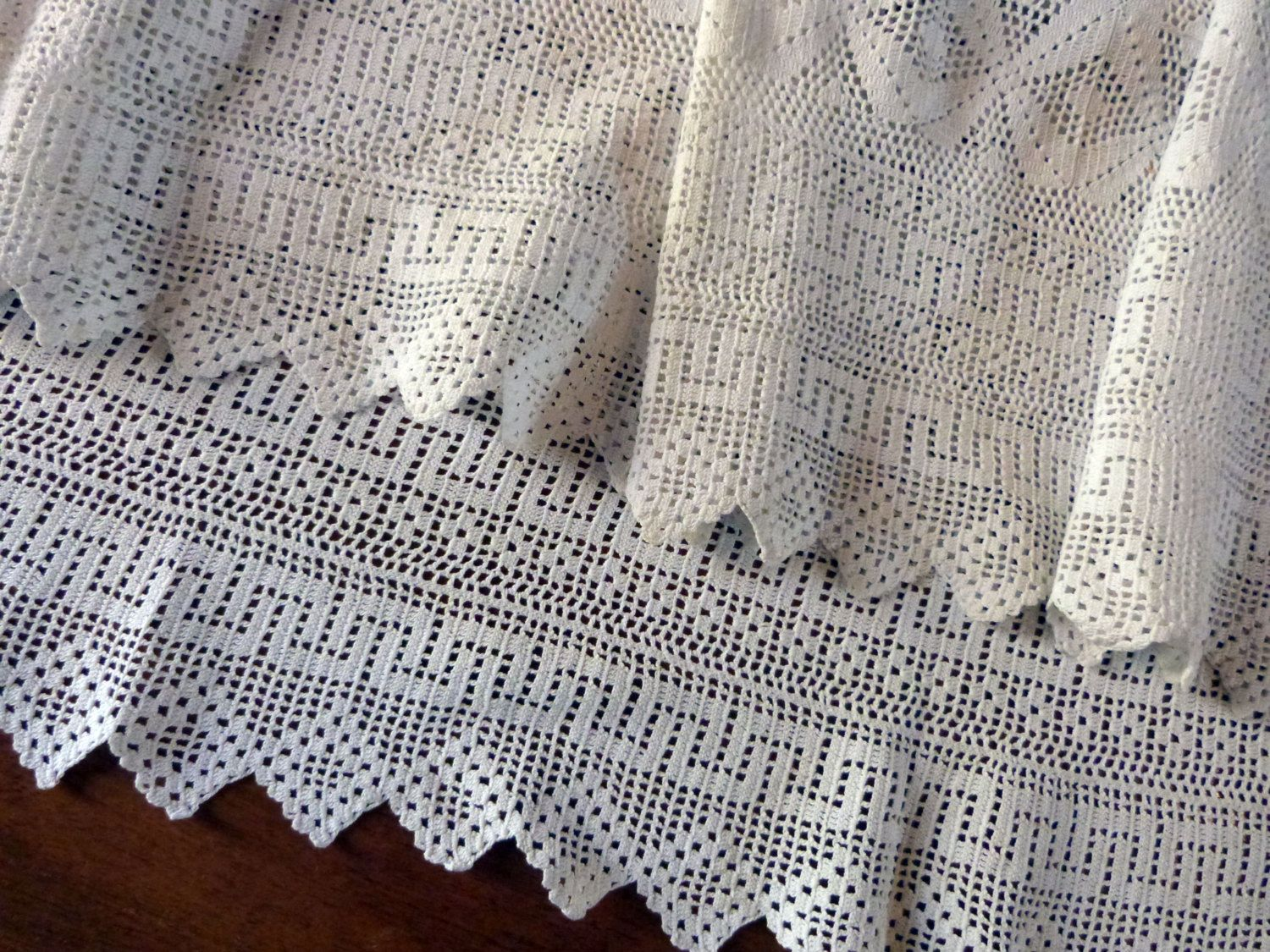 BIG handmade linen crochet lace edging priest surplice alb clergy ...