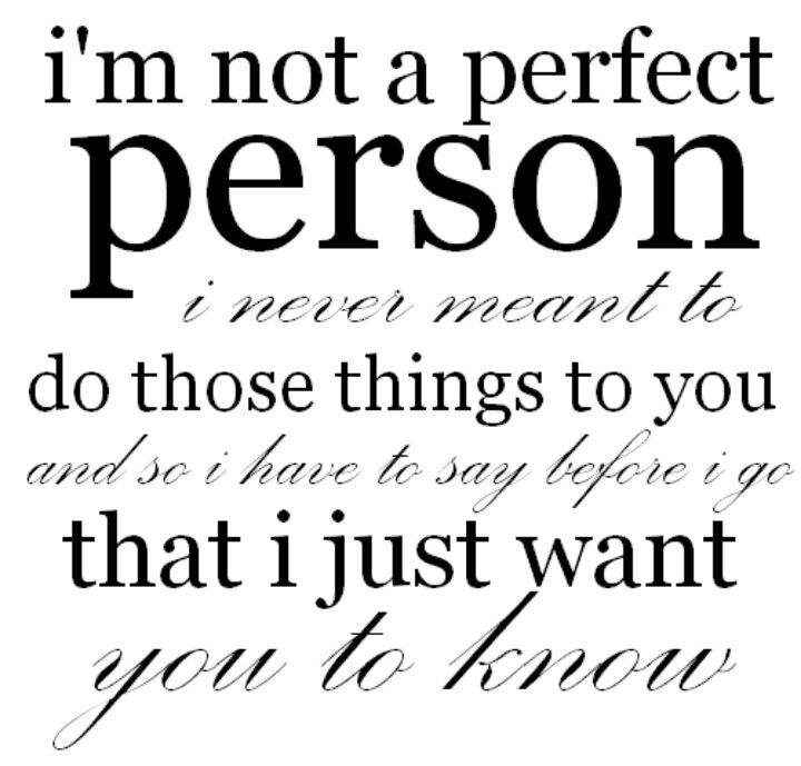 i am not a perfect person song