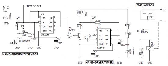 Automatic Soap Dispenser Circuit Diagram | Automatic Hand Dryer Circuit Mulugeta Dry Hands Circuit Diagram