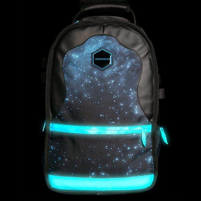 9455af5a49d Fancy - Gammaxy Glow-in-the-dark Backpack by Sprayground     pppppreeeeetttttyyyyy and good for bike ppl