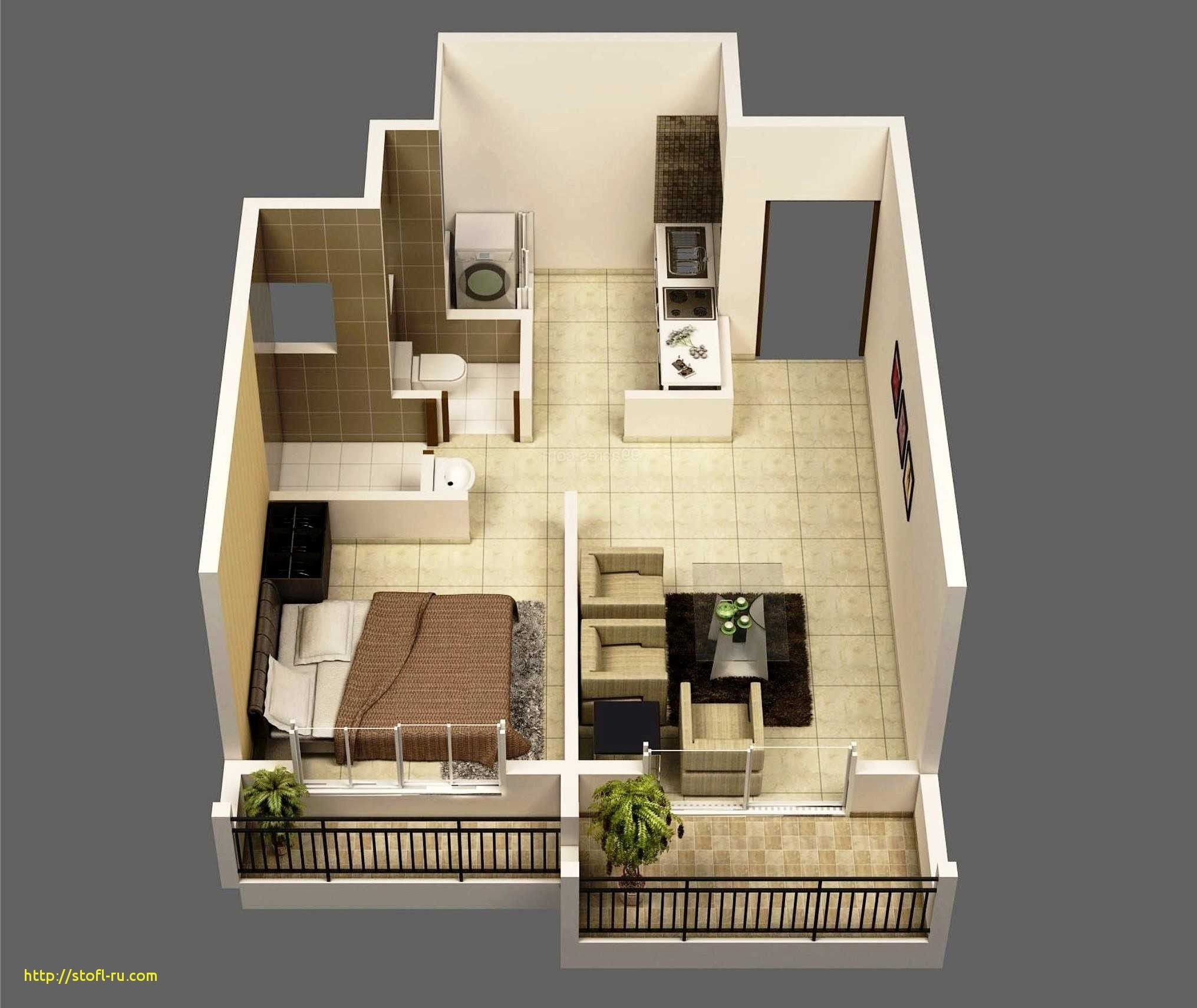 small house plan below 500 sq ft - modern style house design