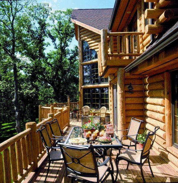 Log Home Photos   Big Sky Home Tour › Expedition Log Homes, LLC ...