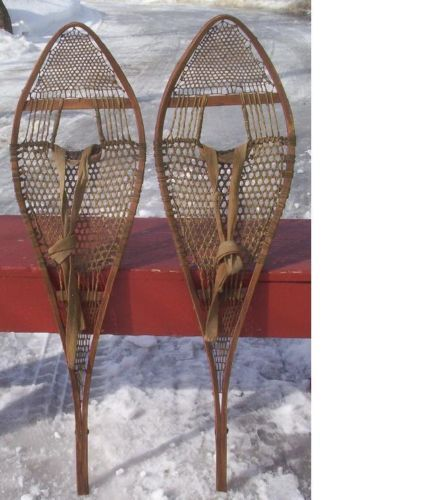 Antique Indian Snowshoes 37x10 Snow Shoes Very OLD Great