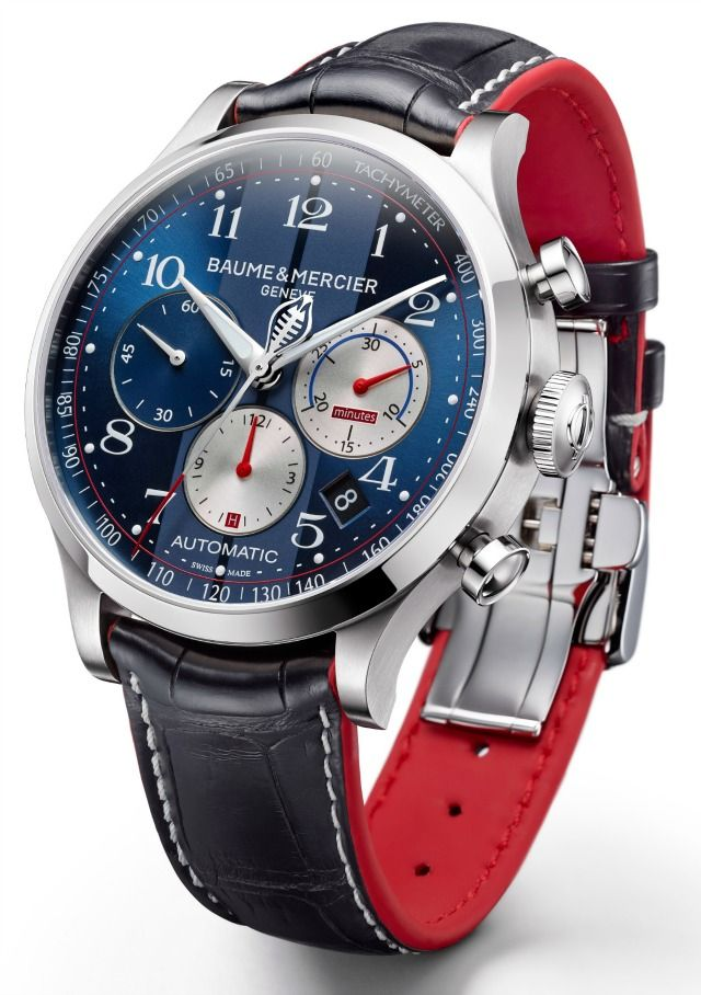 baume news chronograph watch flyback capeland for partners cobra up mercier red watches with gold shelby anniversary carroll