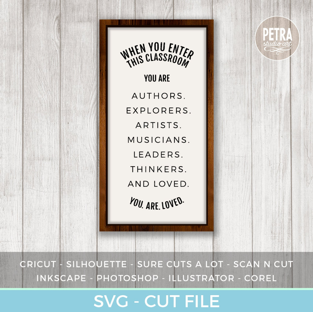 When You Enter This Classroom SVG. Teacher SVG for Rustic Sign and Modern Farmhouse Decoratio... Wh