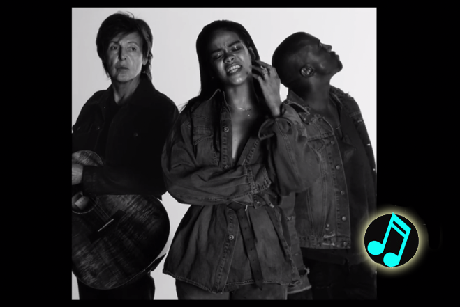 Rihanna S Fourfiveseconds Video Featuring Paul Mccartney Kanye West Watch Now Http Popdust Com 2015 02 Rihanna Paul Mccartney Paul Mccartney Kanye West