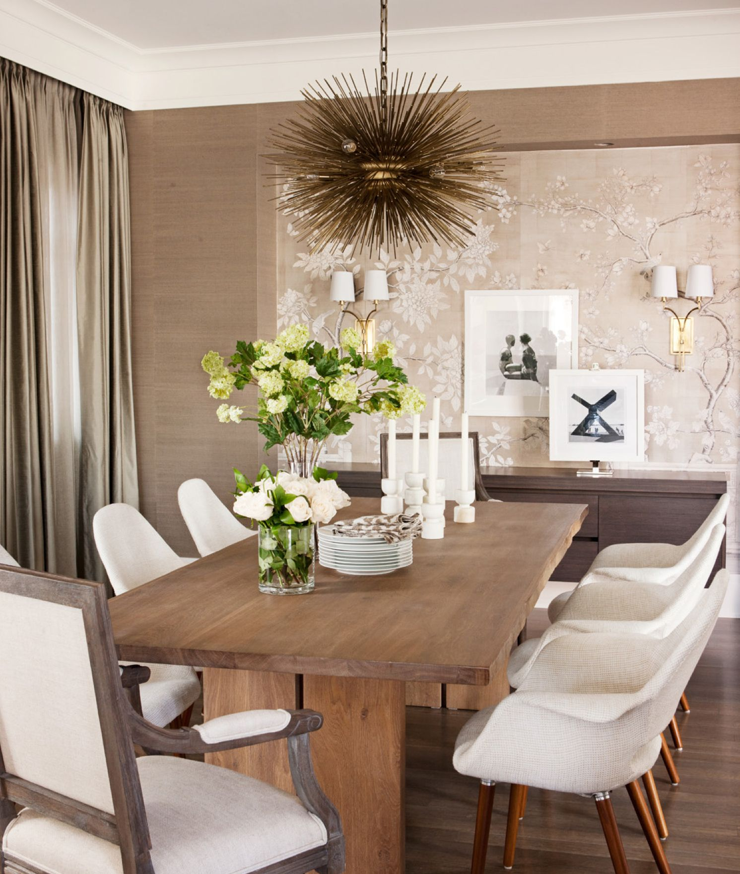 Rustic mid century modern living urban pinterest for Rustic dining area