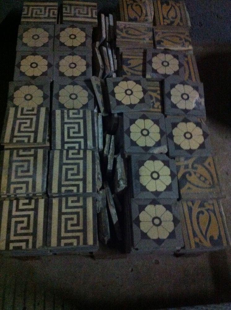 V B 1 Jugendstil Boden Fliese Villeroy Boch Mosaik Mettlach 16