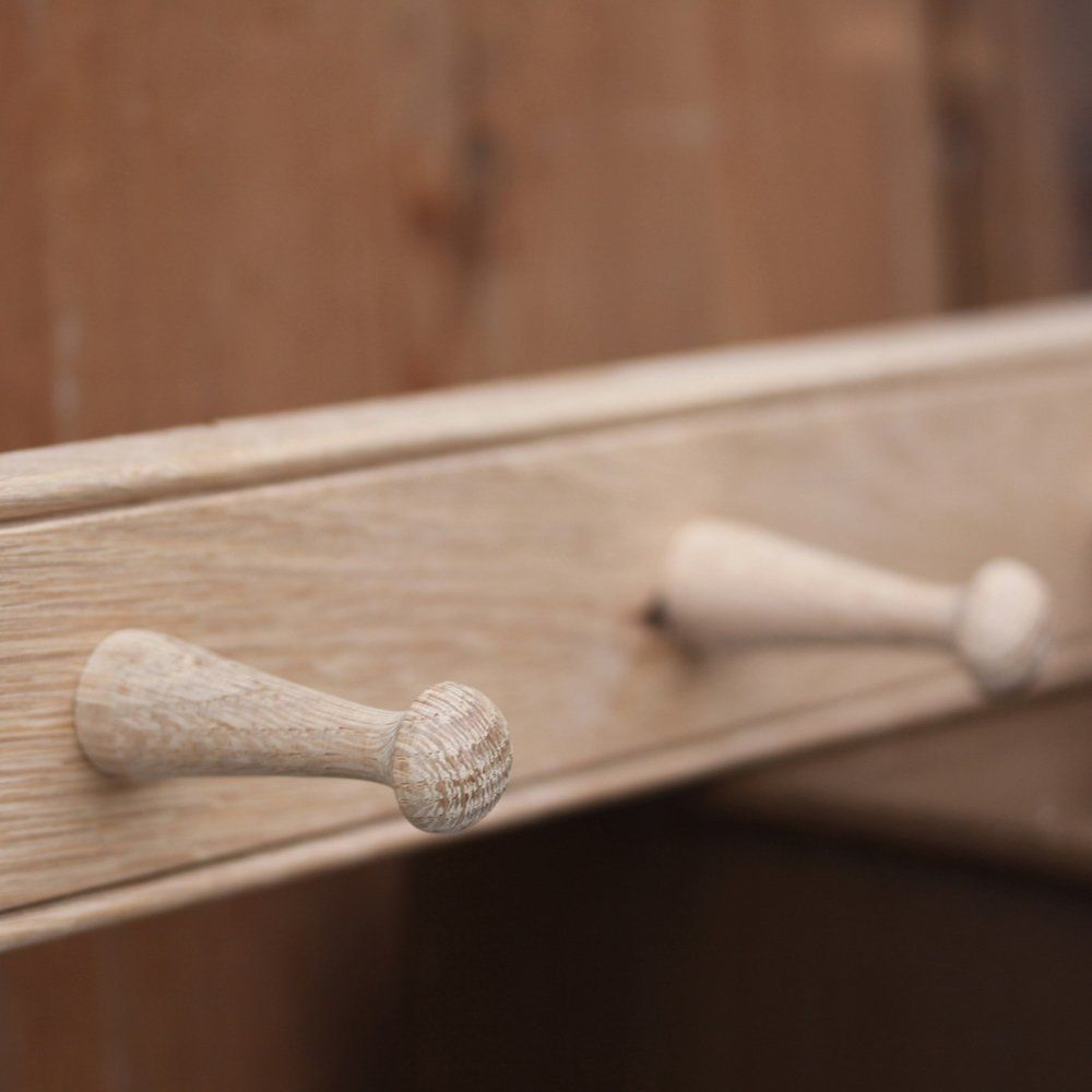 Oak Peg Rails Shaker Hooks From Willow Stone Handmade In The Uk