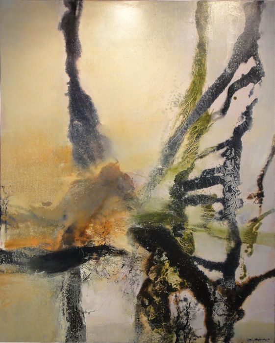 Untitled Oil on canvas 161.5x130cm 1985 Zao Wou-Ki,