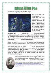 English teaching worksheets: Edgar Allan Poe | Lit Study - Poe ...