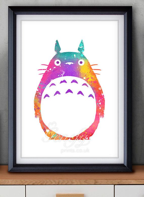 My Neighbour Totoro Studio Ghibli Watercolor Poster Print   Watercolor  Painting   Watercolor Art   Home