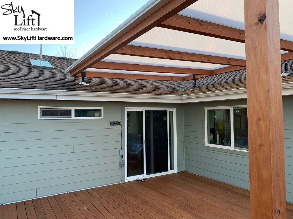 Using The Skylift Hardware Quot Fly Over Quot Roof Brackets With