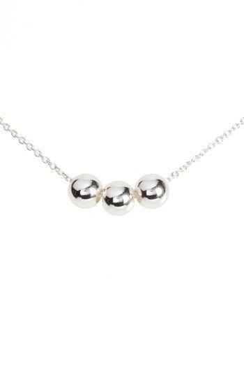 Gorjana Newport Three-Bead Silvertone Adjustable Necklace CjwGJ7