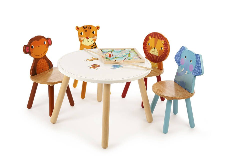 Childrens Animal Table Set From Notonthehighstreetcom Kids - Animal-chairs-for-children