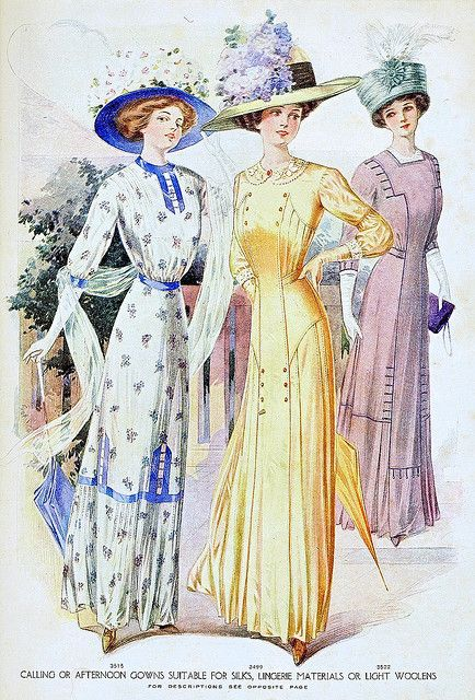 still looking a lot like the 1890's fashion plates