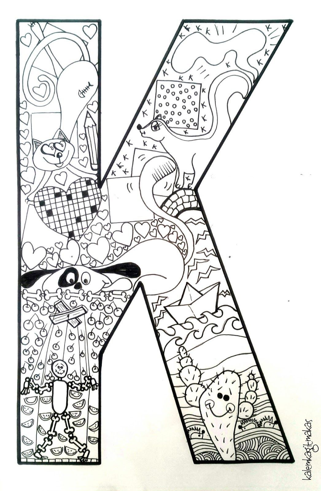 Kleurplaat Alphabet Letters To Print Coloring Letters Coloring Book Pages